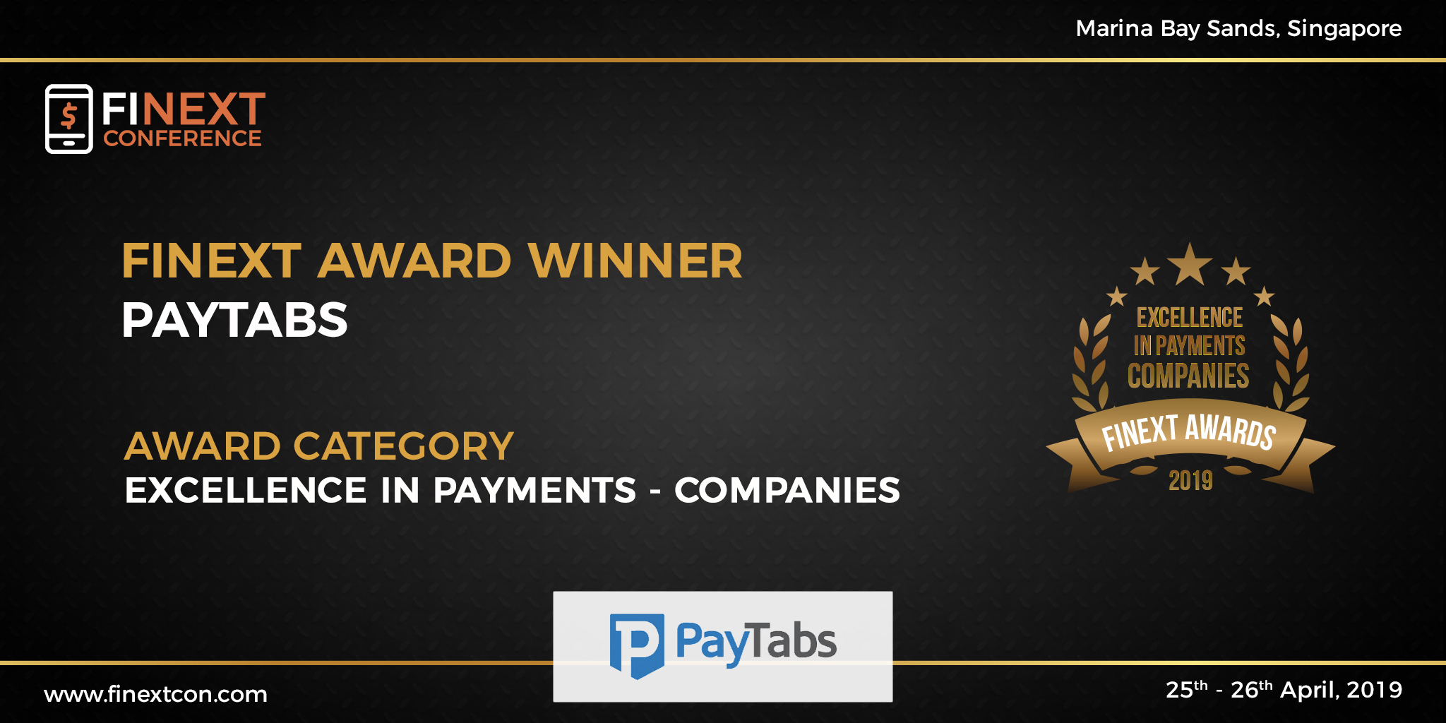 PayTabs Wins Prestigious FiNext Top Companies in Payments Award